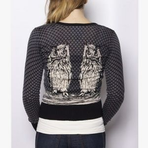 Anthropology Knitted Dove cardigan owl